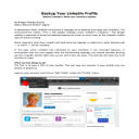 Jobseeker's Guide to Backing Up Your LinkedIn Profile Pass-Along Materials | Documents and Forms | Business