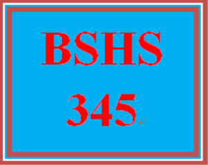BSHS 345 Week 4 Annotated Bibliography | eBooks | Education