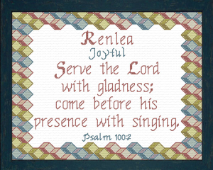 Name Blessings - Renlea | Crafting | Cross-Stitch | Religious