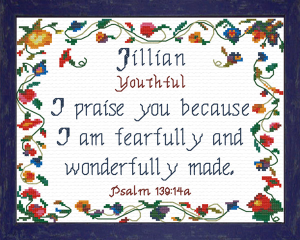 Name Blessings - Jillian 2 | Crafting | Cross-Stitch | Religious