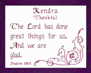 Name Blessings - Kendra | Crafting | Cross-Stitch | Religious