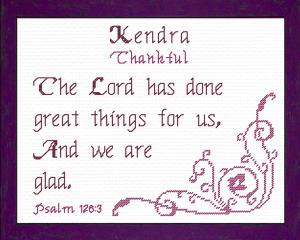 name blessings - kendra