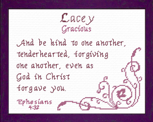 Name Blessings - Lacey | Crafting | Cross-Stitch | Religious