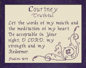 name blessings - courtney 3