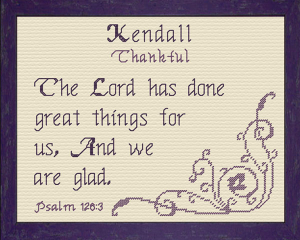 name blessings - kendall