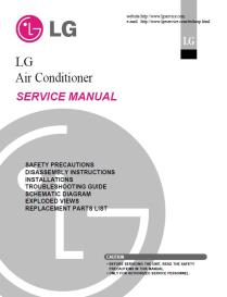 lg wg5200r air conditioning system service manual