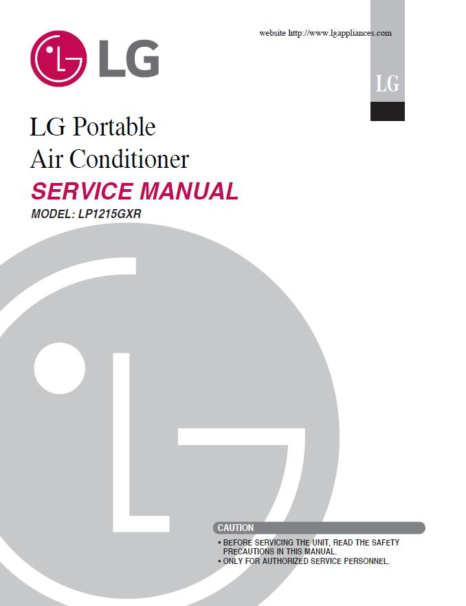 Lg Lp1215gxr Air Conditioning System Service Manual Manual Guide
