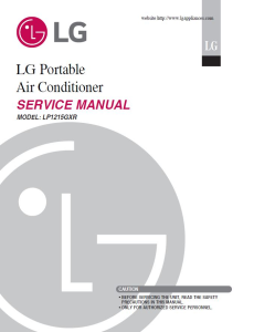 LG LP1215GXR Air Conditioning System Service Manual | eBooks | Technical