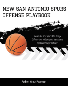 New San Antonio Spurs Mid-Range Offense Playbook | eBooks | Sports