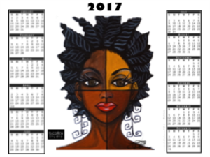 "2017 Calendar - - ""Blackness"" 