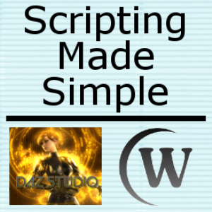 scripting made simple for daz studio, volume 1 - introduction to scripting