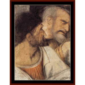 Judas and Peter - DaVinci cross stitch pattern by Cross Stitch Collectibles | Crafting | Cross-Stitch | Wall Hangings