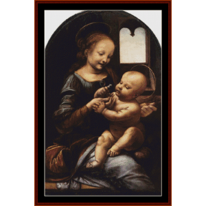 Madonna Bennois - DaVinci cross stitch pattern by Cross Stitch Collectibles | Crafting | Cross-Stitch | Wall Hangings