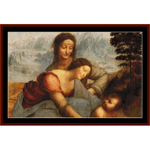 Virgin & Child with St. Anne - DaVinci cross stitch pattern by Cross Stitch Collectibles | Crafting | Cross-Stitch | Wall Hangings
