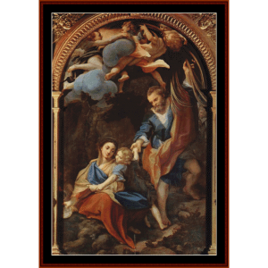 Madonna della Scodella, 1530 - Corregio cross stitch pattern by Cross Stitch Collectibles | Crafting | Cross-Stitch | Wall Hangings