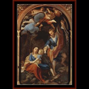 madonna della scodella, 1530 - corregio cross stitch pattern by cross stitch collectibles