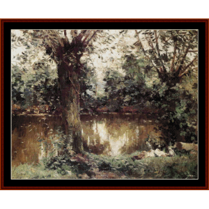 Banks of the Yerres - Caillebotte cross stitch pattern by Cross Stitch Collectibles | Crafting | Cross-Stitch | Wall Hangings