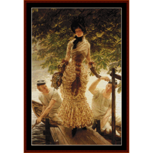 on the thames - tissot cross stitch pattern by cross stitch collectibles