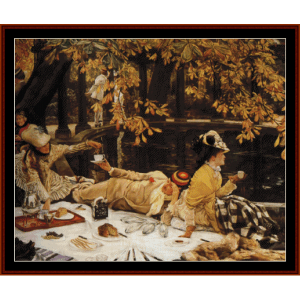 Holiday, 1876 - Tissot cross stitch pattern by Cross Stitch Collectibles | Crafting | Cross-Stitch | Wall Hangings