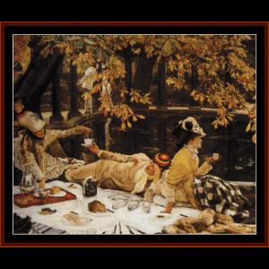 holiday, 1876 - tissot cross stitch pattern by cross stitch collectibles