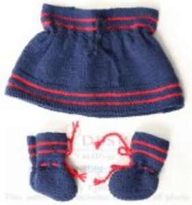 DollKnittingPatterns - 2016 Julehilsen - Juleskjørt og sokker (Norsk) | Crafting | Knitting | Other