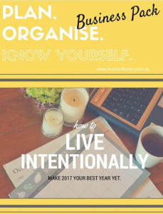 business pack - plan. organise. know yourself printables collection