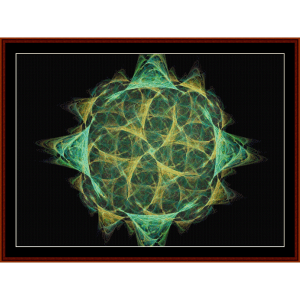 fractal 598 cross stitch pattern by cross stitch collectibles