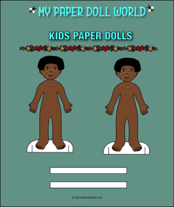 paper doll boy african american friend 4 download