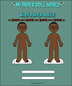 paper doll boy african american friend 5 download