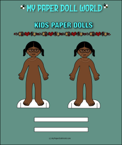 paper doll girl african american friend 1 download
