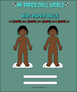 paper doll girl african american friend 4 download