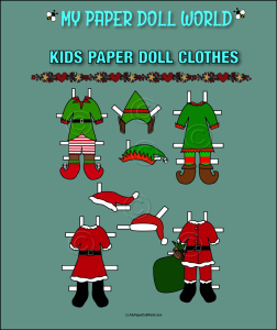 paper doll aa kids christmas clothing set 1 download