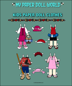 paper doll w kids clothing set 2 download