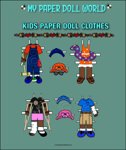 paper doll aa kids clothing set 3 download