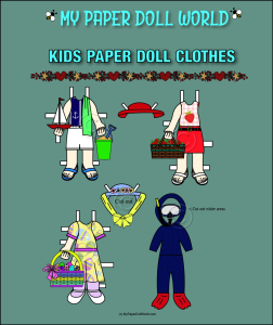 paper doll w kids clothing set 4 download