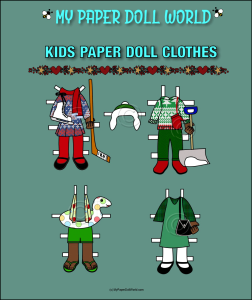 paper doll aa kids clothing set 5 download