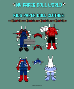 paper doll w kids clothing set 6 download