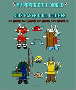 paper doll aa kids clothing set 7 download