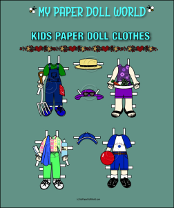 paper doll w kids clothing set 8 download