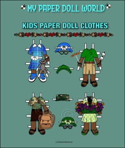 paper doll aa kids clothing set 9 download