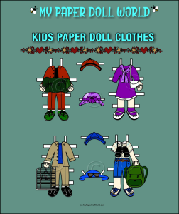 paper doll w kids clothing set 10 download