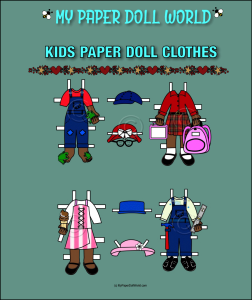 paper doll aa kids clothing set 11 download