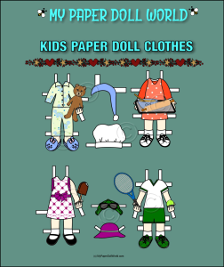 paper doll w kids clothing set 12 download