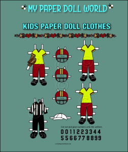 paper doll aa kids football clothing set 1 download