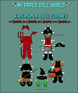paper doll w kids halloween costumes 1 download