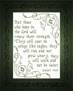 Hope in the Lord | Crafting | Cross-Stitch | Religious