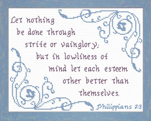 Let Each Esteem | Crafting | Cross-Stitch | Religious
