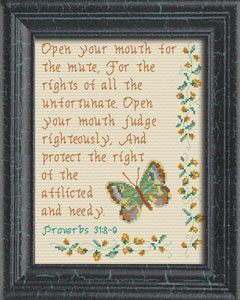 Judge Righteously | Crafting | Cross-Stitch | Religious
