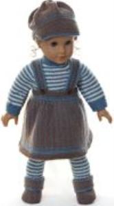 DollKnittingPatterns 0162D TOBINE - Skjørt, genser, lue, strømpebukse og sko -(Norsk) | Crafting | Knitting | Other