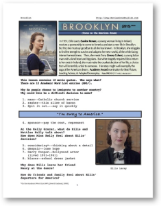 BROOKLYN, Whole-Movie English (ESL) Lesson | eBooks | Education